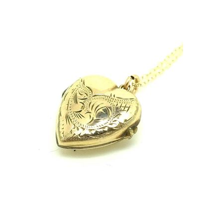 antique-victorian-puffed-yellow-gold-heart-locket-necklace