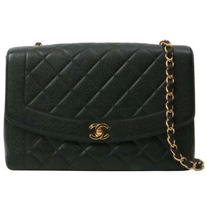 chanel-caviar-leather-diana-flap-chain-bag-28cm-black
