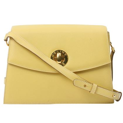celine-logo-plate-turn-lock-shoulder-bag-lemon-yellow