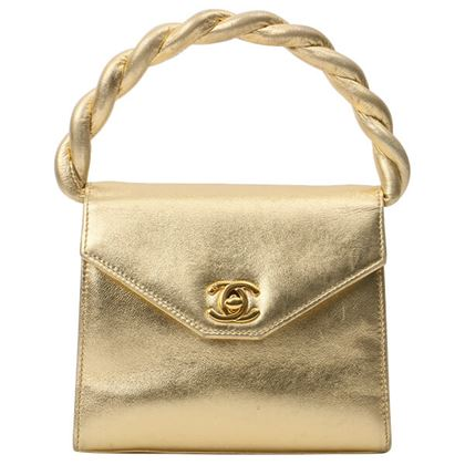 chanel-design-flap-matelasse-plate-twist-handle-mini-bag-gold