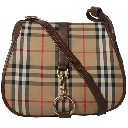 burberry-nova-check-pattern-round-flap-shoulder-bag-beigebrown
