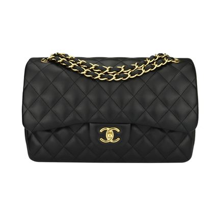 chanel-double-flap-jumbo-black-lambskin-gold-hardware-2015