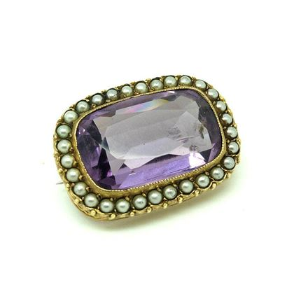 antique-victorian-amethyst-glass-seed-pearl-brooch