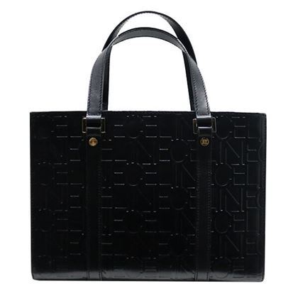 celine-logo-embossed-handbag-black