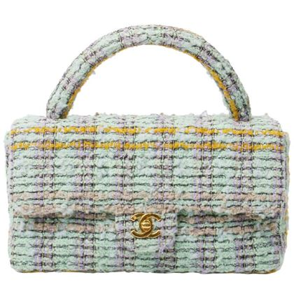 chanel-tweed-cf-handbag-mint-cream