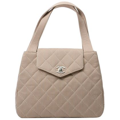 chanel-cotton-check-pattern-matelasse-handbag-beige