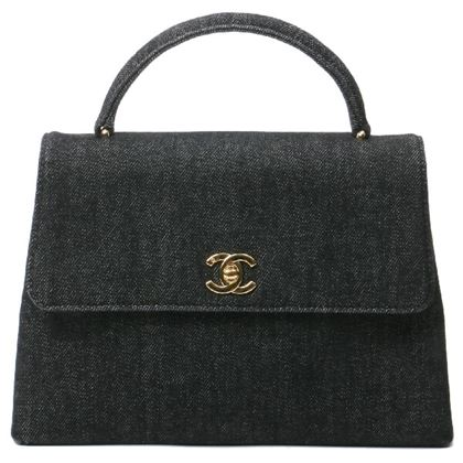 chanel-denim-turn-lock-handbag-black