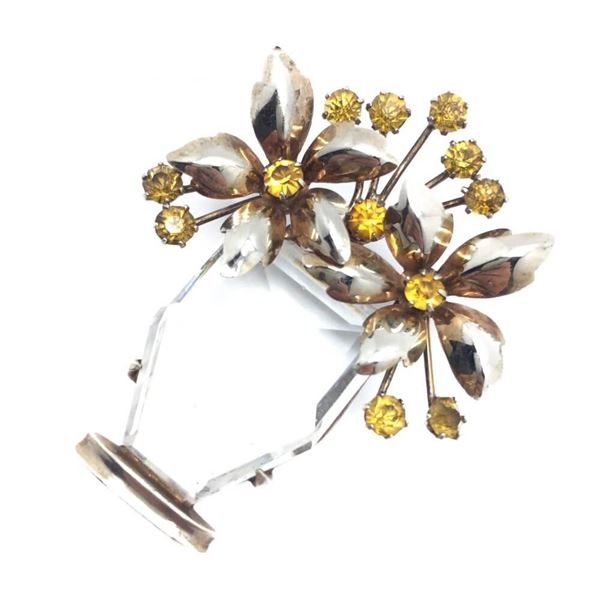 Giardinetto Vintage Flower Brooch 1930s