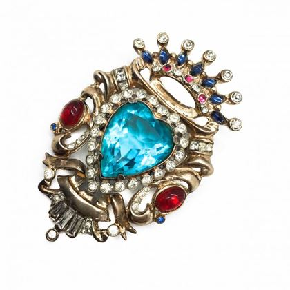 corocraft-vintage-brooch-sterling-silver-crystal-heart-1940s