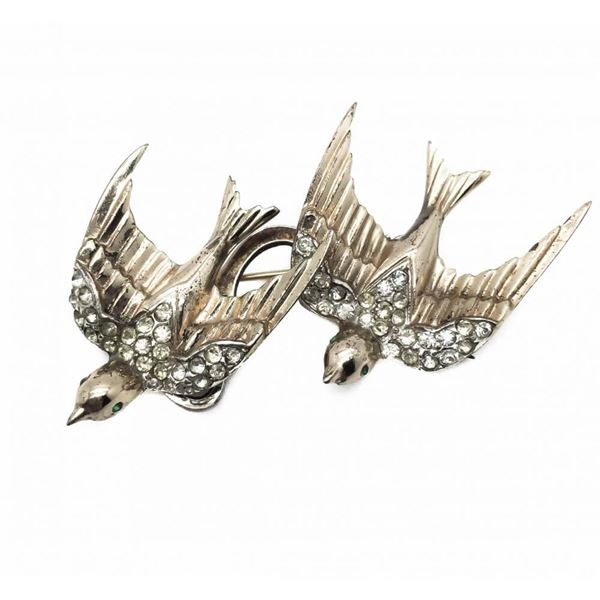 coro-vintage-duette-brooch-heavenly-swallows-sterling-silver-1940s