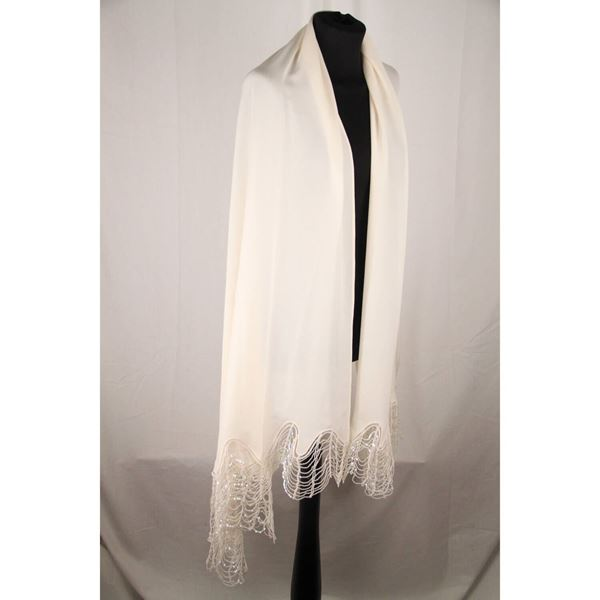 la-perla-white-silky-fabric-stole-scarf-with-sequins