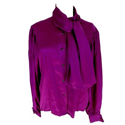 thierry-mugler-vintage-1990s-blouse-silk-womens-purple-42-shawl-collar-balloon