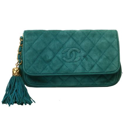 chanel-suede-cc-mark-stitch-fringe-clutch-bag-turquoise-green