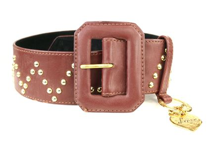 yves-saint-laurent-brown-leather-gold-toned-studs-with-gold-heart-charm-belt