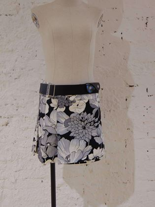 burberry-london-multicoloured-cupro-skirt-with-belt