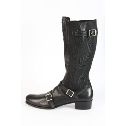 gianni-barbato-boots-leather-black-italian-shoes-1990s