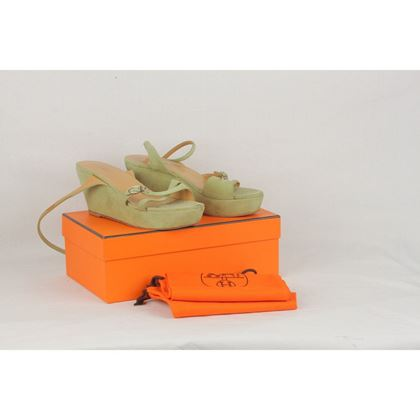 hermes-green-suede-wedges-strappy-sandals-shoes-size-385