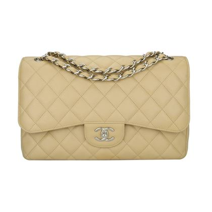 chanel-double-flap-jumbo-beige-clair-caviar-silver-hardware-2013