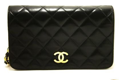 chanel-chain-shoulder-bag-clutch-black-quilted-flap-lambskin-purse-48