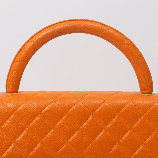 chanel-caviar-skin-classic-flap-handbag-orange
