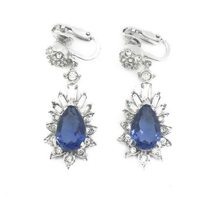 boucher-vintage-earrings-faux-sapphire-diamond-drops-1950s