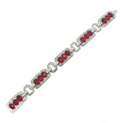 art-deco-vintage-bracelet-red-crystal-rhodium-plated-1930s