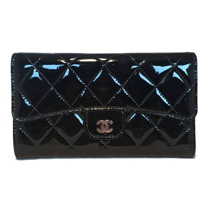 chanel-black-patent-quilted-tri-fold-wallet