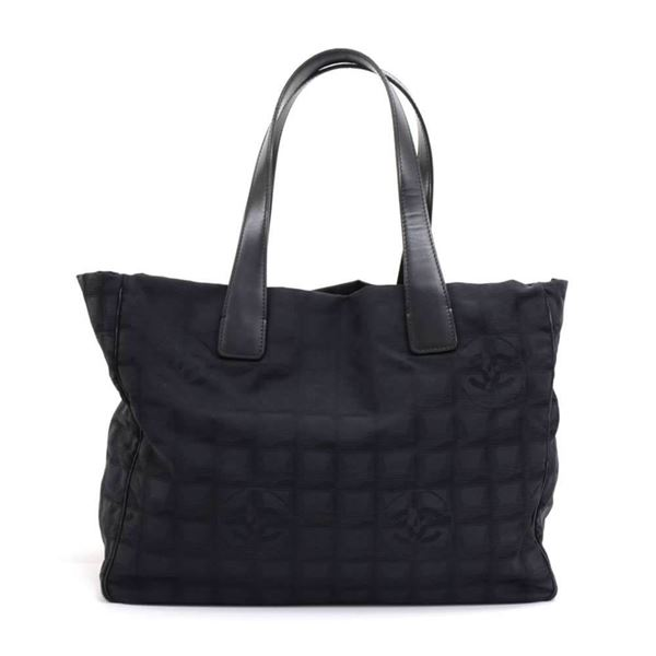 chanel-travel-line-black-jacquard-nylon-medium-tote-bag