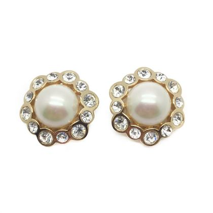 dior-vintage-earrings-pearl-crystal-rhinestones-1990s