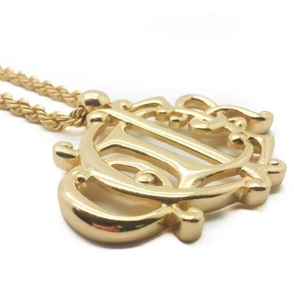 dior-vintage-necklace-gilt-monogram-1990s