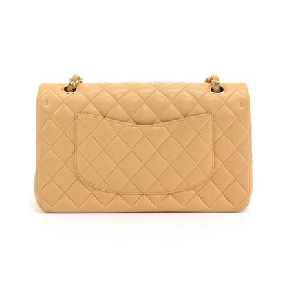 chanel-255-10-double-flap-beige-quilted-leather-shoulder-bag