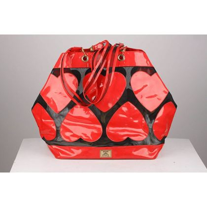 moschino-vintage-red-vinyl-canvas-large-hearts-beach-bag-tote