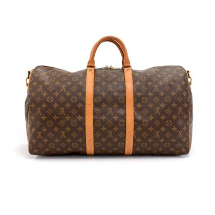 vintage-louis-vuitton-keepall-55-bandouliere-monogram-canvas-duffel-travel-bag-strap-5
