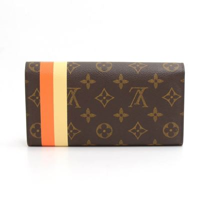 louis-vuitton-sarah-groom-orange-monogram-canvas-wallet