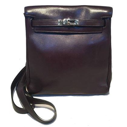 hermes-dark-brown-kelly-ado-vache-leather-mini-backpack-shoulder-bag