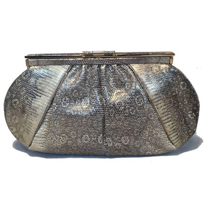 judith-leiber-gold-and-natural-gray-ring-lizard-clutch