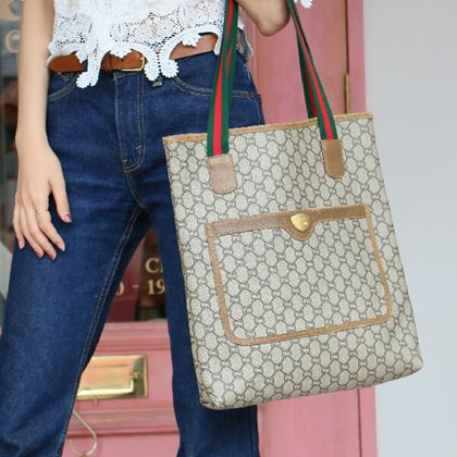 gucci-gg-pattern-logo-web-detailed-tote-bag-with-pouch-brown