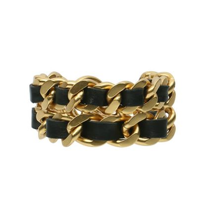 chanel-double-chain-bracelet-black