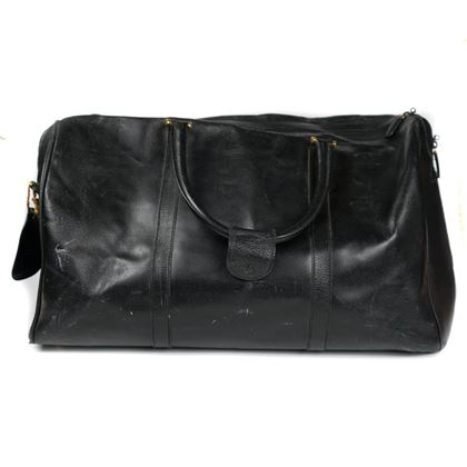 Gucci Duffle Travel Bag Large Black Leather Tom Ford Era  Pre-Owned Used