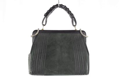 roberta-di-camerino-vintage-green-black-suede-top-handle-bag