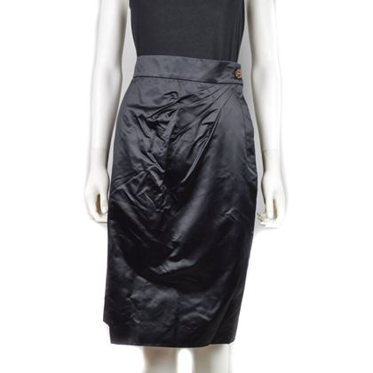Unworn Chanel Skirt With Glass Cc Buttons