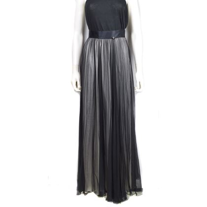 Chanel Unworn Silver Gray Silk Floor Length Skirt - RRP $4K