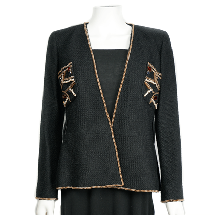 Chanel 09A Chain Embellished Coat