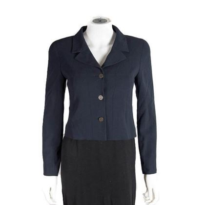 Chanel Blazer Navy Blue With Paris Buttons