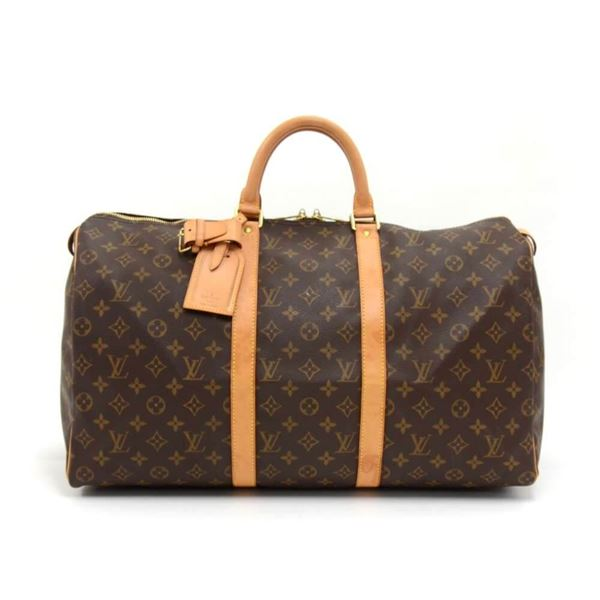 Louis Vuitton Keepall 50 Monogram Canvas Duffle Travel Bag c1fd71dd62768