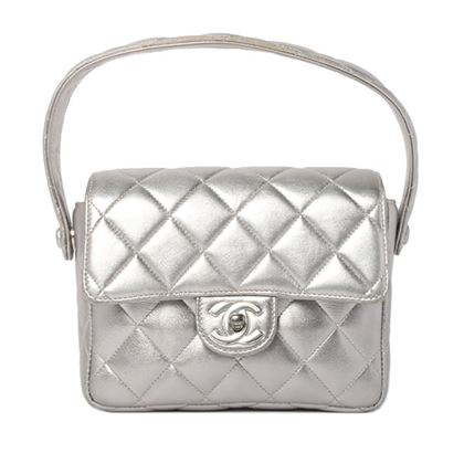 chanel-classic-flap-mini-handbag-silver
