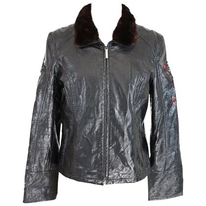 1980s-roccobarocco-black-fur-collar-jacket