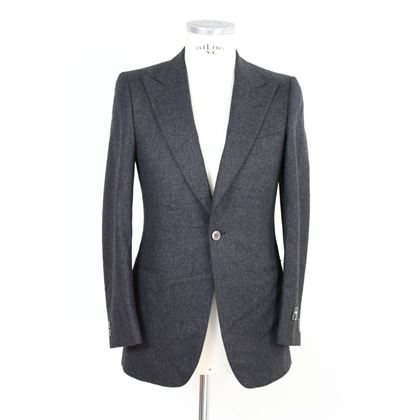 pierre-cardin-suit-pants-gray-and-black-wool-france-smoking-1990s