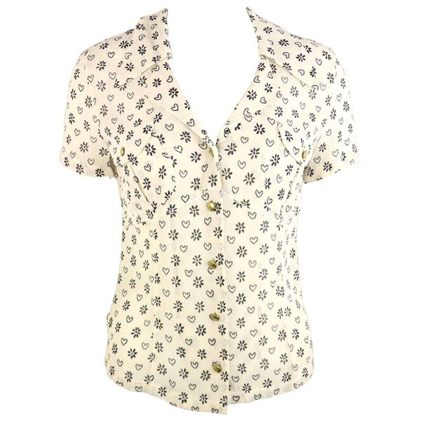 moschino-jeans-white-short-sleeves-shirt-with-black-sunflower-and-heart-prints