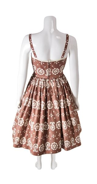1950s-brown-and-white-printed-cotton-vintage-dress